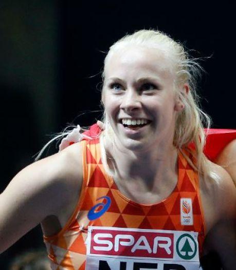 Eindelijk die podiumplaats voor sprintster Marije van Hunenstijn op NK atletiek in Apeldoorn