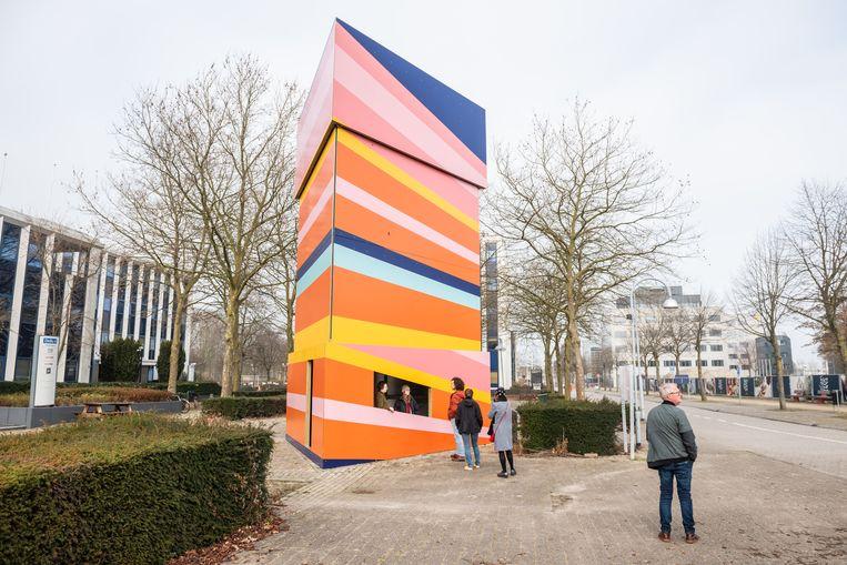 De kiosk in Hoofddorp.  Beeld Simon Lenskens