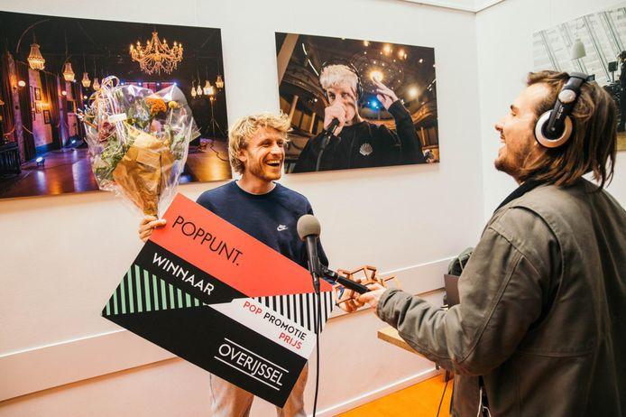 Pim Kokkeler (links) leverde met het Boosterfestival het afgelopen jaar de grootste bijdrage aan het Overijsselse popklimaat.