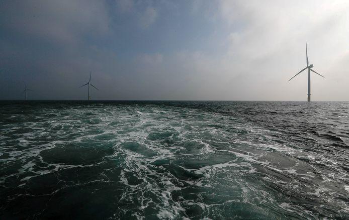 Windpark op zee van Eneco.