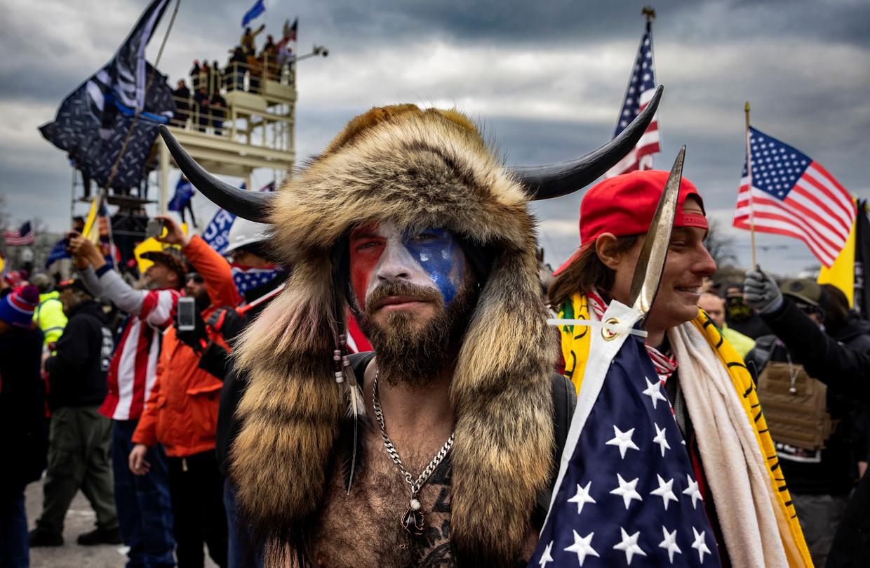 Begin dit jaar bestormden honderden Trump-aanhangers het Capitool in Washington.  Beeld Getty Images