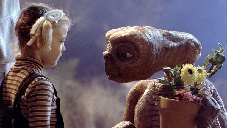 Het (toen) kindsterretje Drew Barrymore en E.T. Beeld Universal / Ipa / Stills/Photo News