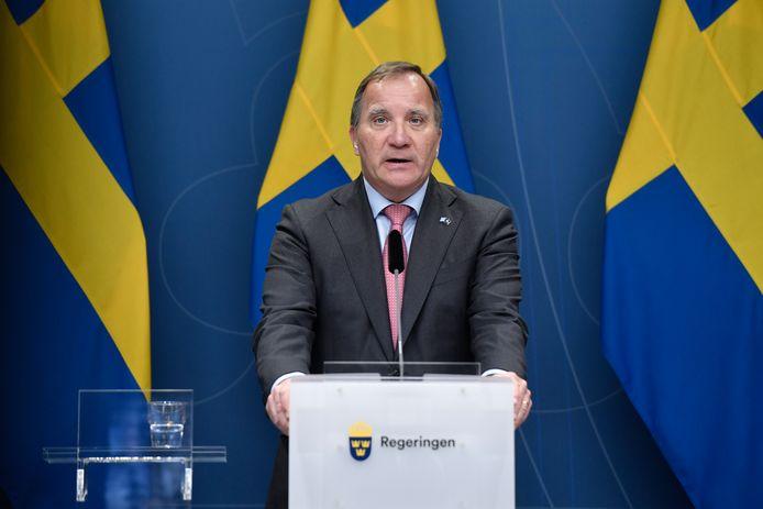 De Zweedse sociaaldemocratische premier Stefan Löfven was premier sinds 2014.