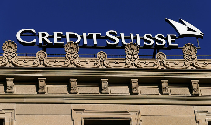 De Zwitserse bank Credit Suisse in Zürich.