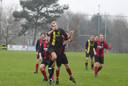 Bart Bovendeur (m) scoorde een hattrick namens Redichem. Archieffoto Gert Budding