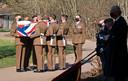De Britse op de grafkist van Captain Tom Moore.