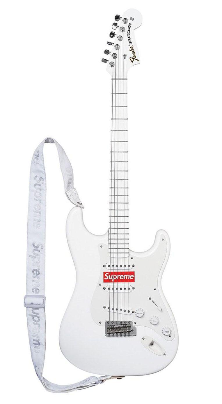 Een gitaar van Supreme. Beeld