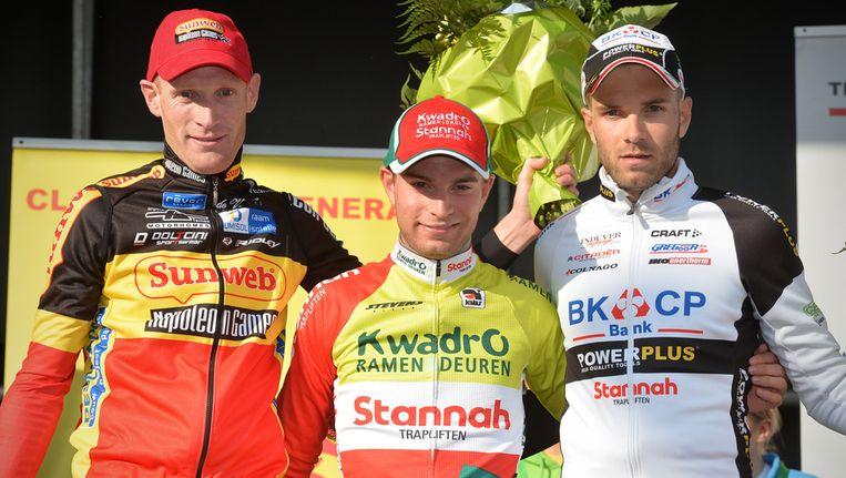 Het podium: Klaas Vantornout, Marcel Meisen en Niels Alber Beeld BELGA