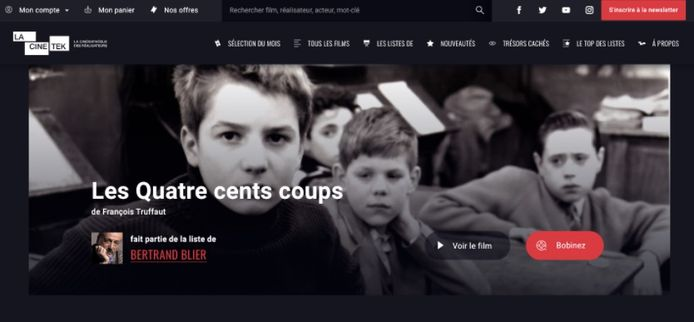 La Cinetek est disponible en Belgique depuis aujourd'hui.