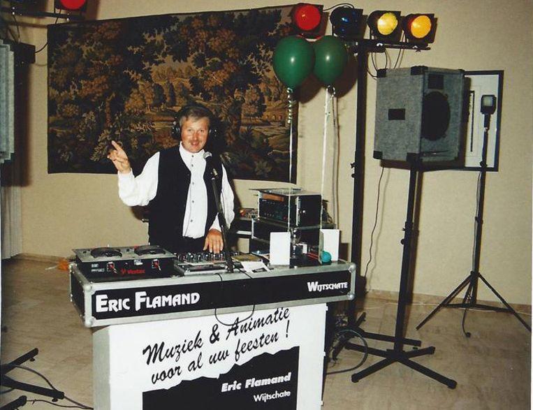 Uit de oude doos: Eric in 1996, met de eerste dubbele cd-speler.