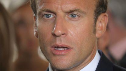Populariteit Emmanuel Macron in vrije val