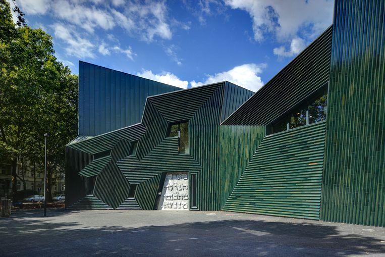 Het joodse gemeentecentrum 'Licht van de diaspora' in Mainz. Beeld Manuel Herz Architects