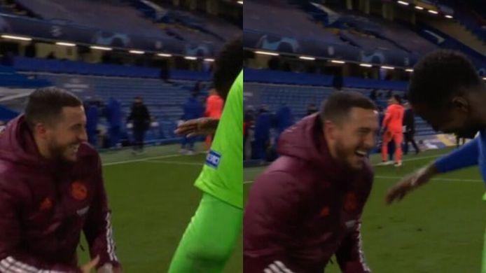Un bon moment avec ses anciens coéquipiers de Chelsea... mais complètement déplacé pour les fans du Real