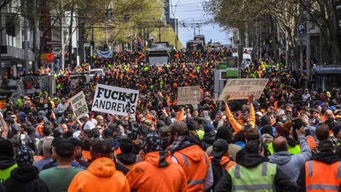 Australie: des balles en caoutchouc pour disperser des manifestants contre la vaccination obligatoire à Melbourne