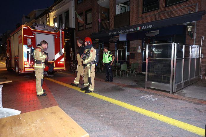 Brand gesticht bij Italiaans restaurant Antonio's aan de Dommelstraat in Eindhoven in de nacht van donderdag 25 op vrijdag 26 juni 2020.