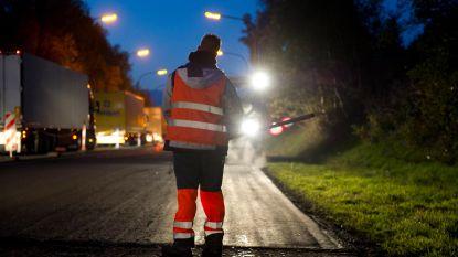 Steeds meer ongevallen in  wegenwerfzones