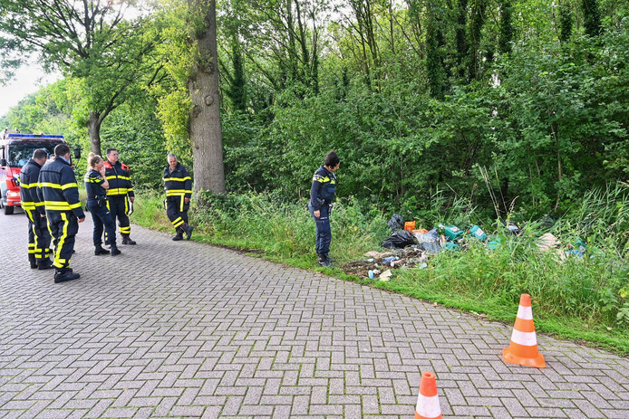 Drugsafval gedumpt in Etten-Leur.
