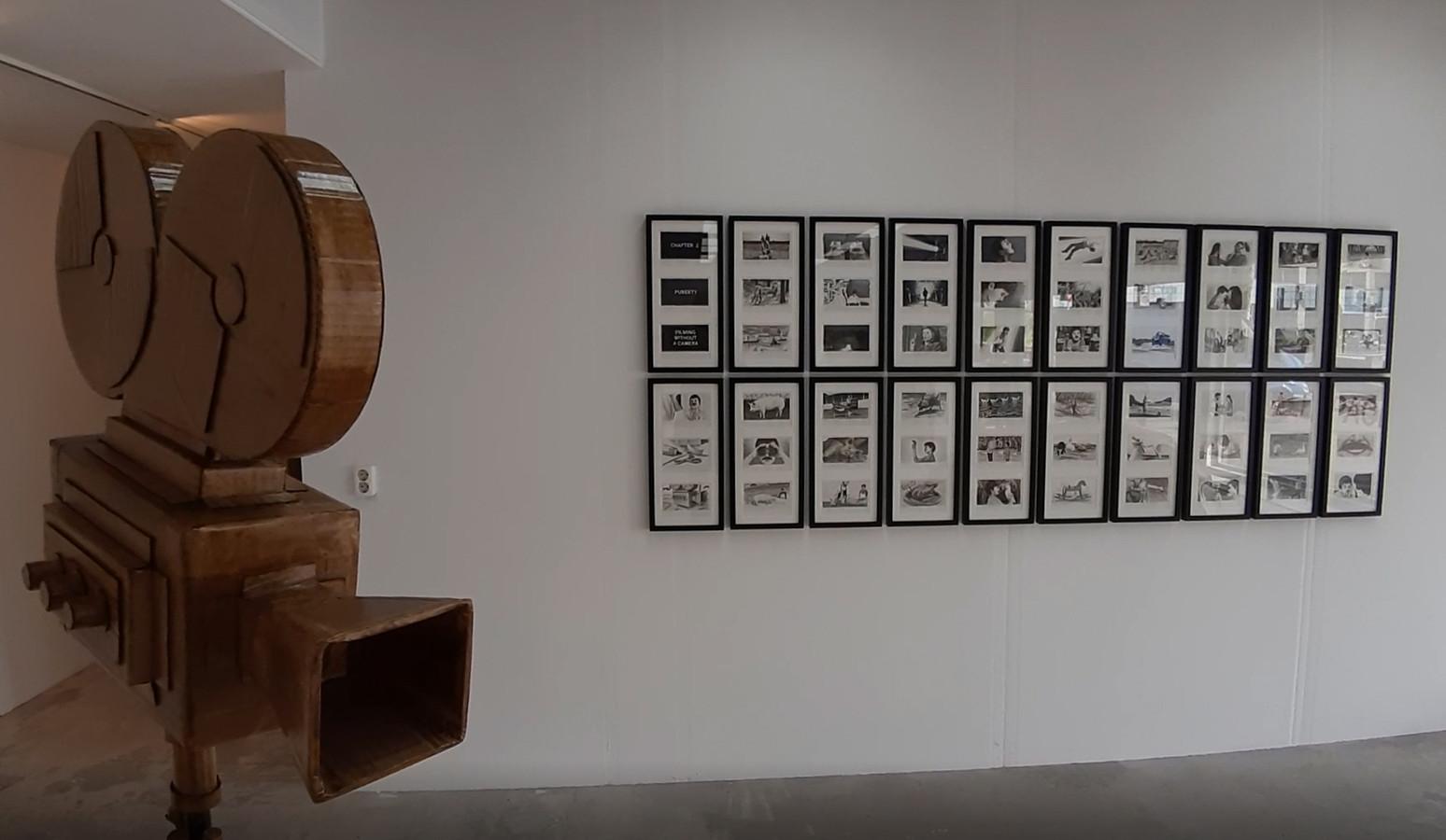 Werk van de Eindhovense kunstenaar Vincent Dams, onderdeel van de expositie 'Blockbuster', een project van het Van Abbemuseum en het collectief Wallstreet.