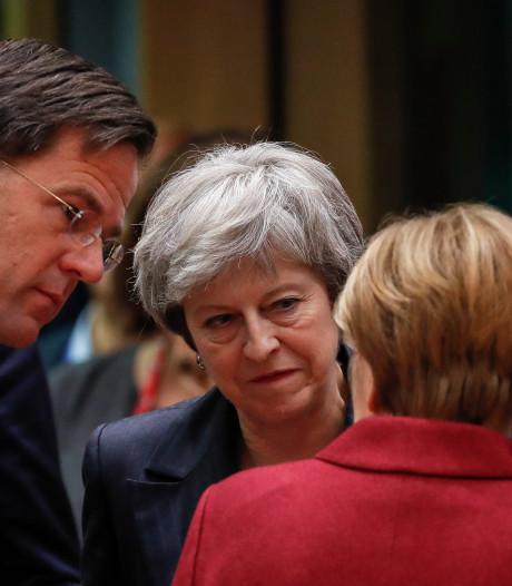 Britse premier May sprak met Rutte en Merkel over brexit