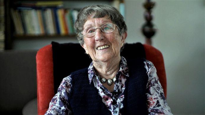 Marie Blommaart, oud-gevangene kamp Haaren.