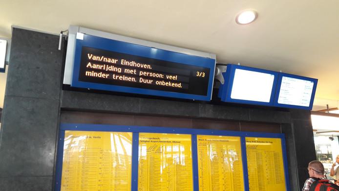 Treinverkeer van en naar Eindhoven ligt plat.