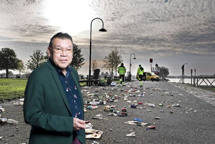 Roy Grünewald over het afval Buiten de Waterpoort.
