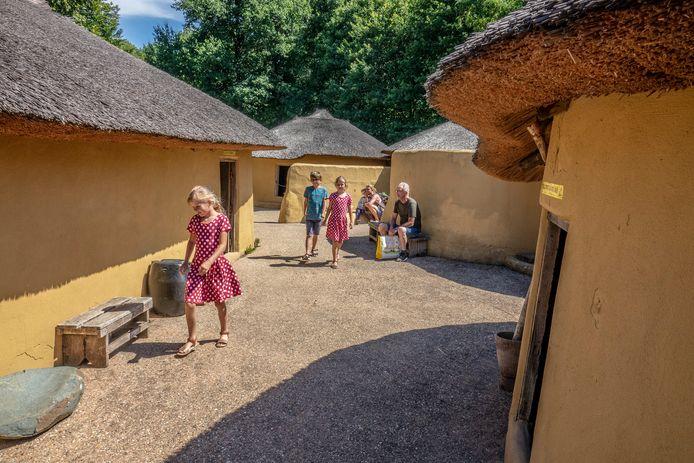 Het Ghana-dorp in het Afrika Museum.