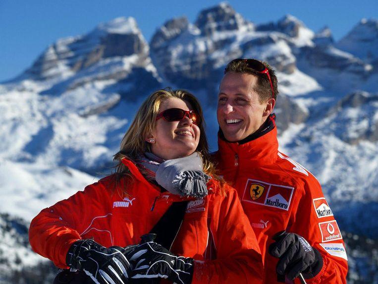 Schumacher en Corinna op een archiefbeeld.