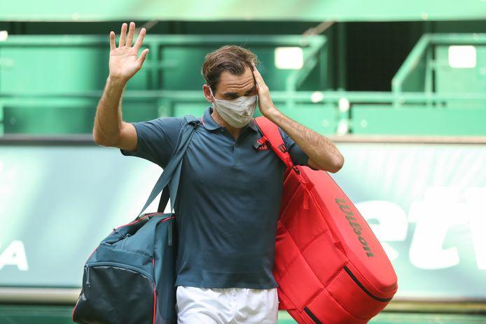 Touché au genou, Roger Federer ne remportera jamais la médaille d'or en simple.