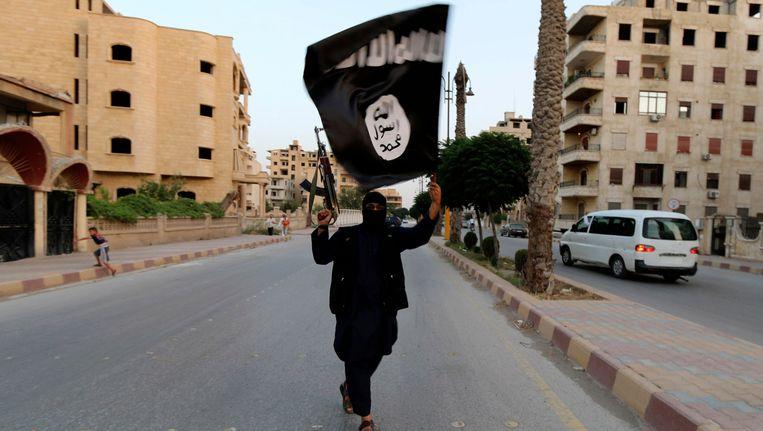 Een IS-aanhanger in Irak - juni 2014. Beeld REUTERS