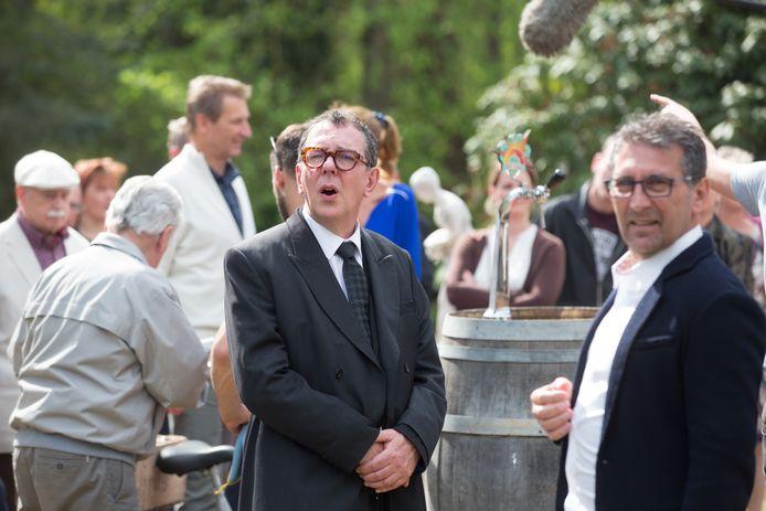 Op de set van de Kampioenen-film met personage Marc Vertongen
