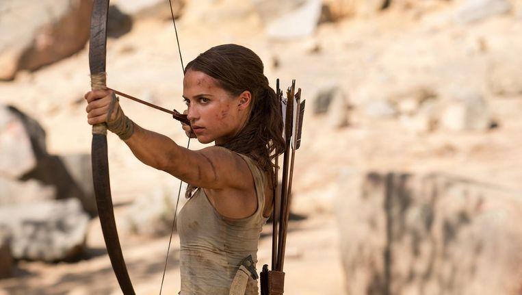 Alicia Vikander is een prima Lara, maar door de fletse dialogen stelt Tomb raider toch teleur. Beeld Ilzek Kitshoff
