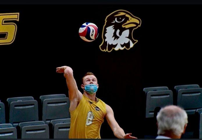 Yoran Raymaekers in actie voor de Quincy Hawks.
