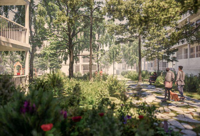 In de Ukkelse wijk Calevoet maken de oude kantoorsites van Therabel en AstraZeneca binnenkort plaats voor een nieuwe groene woonwijk.