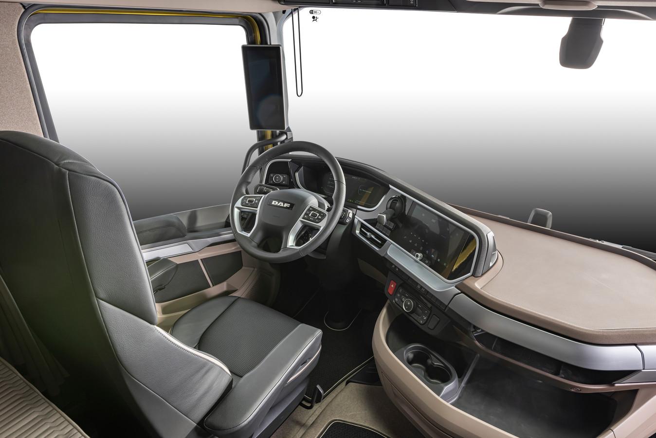 Digitale dashboards in de nieuwe generatie DAF-trucks.
