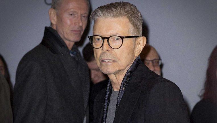 David Bowie na de premiere van de musical Lazarus in New York. Beeld ANP Kippa
