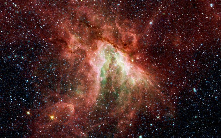 Hoe stelt De Lange zich de oerknal voor of nog moeilijker: wat eraan voorafging, of ging er niets aan vooraf? Beeld NASA/JPL-Caltech/M. Povich (Univ