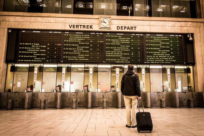 La gare centrale, à Bruxelles