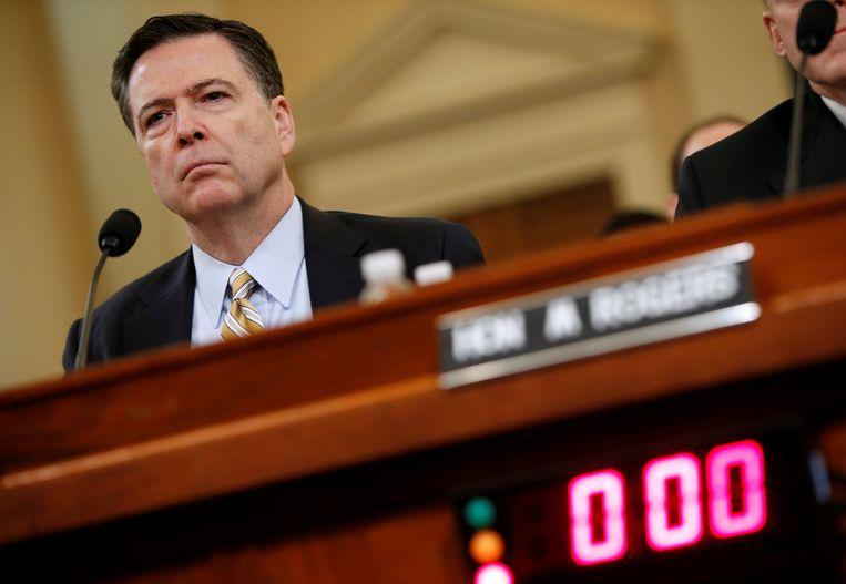 Ex-FBI-directeur James Comey tijdens een hoorzitting in het Congres in maart. Beeld REUTERS