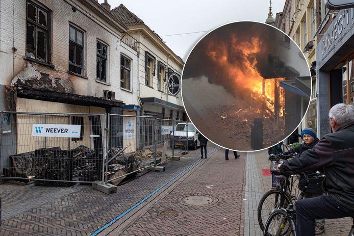 DS-2021-8042 Kampen - Brand woonhuis aan de Oudestraat in Kampen 'The day after'. Editie FL Foto Freddy Schinkel, IJsselmuiden © FS20210308