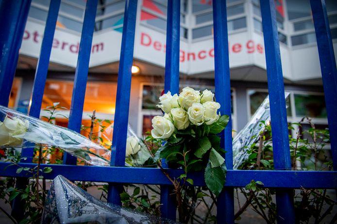 Het Rotterdam Design College, waar de 16-jarige Humeyra Ergincanli werd doodgeschoten.