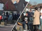 Kroegbaas Marco schenkt klanten biertje in de zon