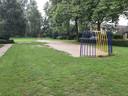 Een leeg speelveld vorige week dinsdag aan het Burgersveld.
