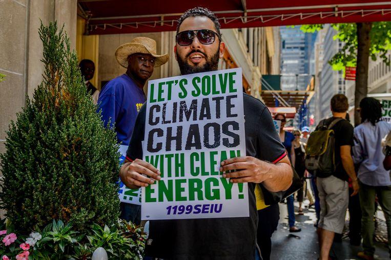 Demonstrant in San Diego. Beeld getty