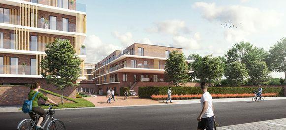 Een conceptbeeld van woonproject Lakenhof dat de ontwikkelaar op de Tiltex-site wil zien.