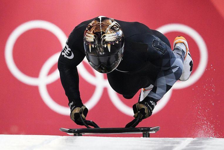 Frimpong tijdens een Olympische training. Beeld anp