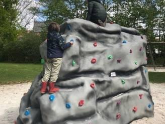 Speelplein De Bogaard uitgebreid met klimrots
