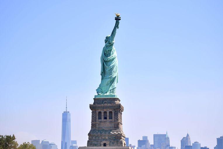 Het Amerikaanse Vrijheidsbeeld op Liberty Island.
