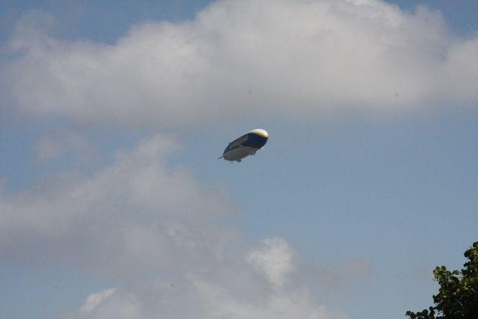 Deze Zeppelin werd gespot in de regio Houthulst en Diksmuide.