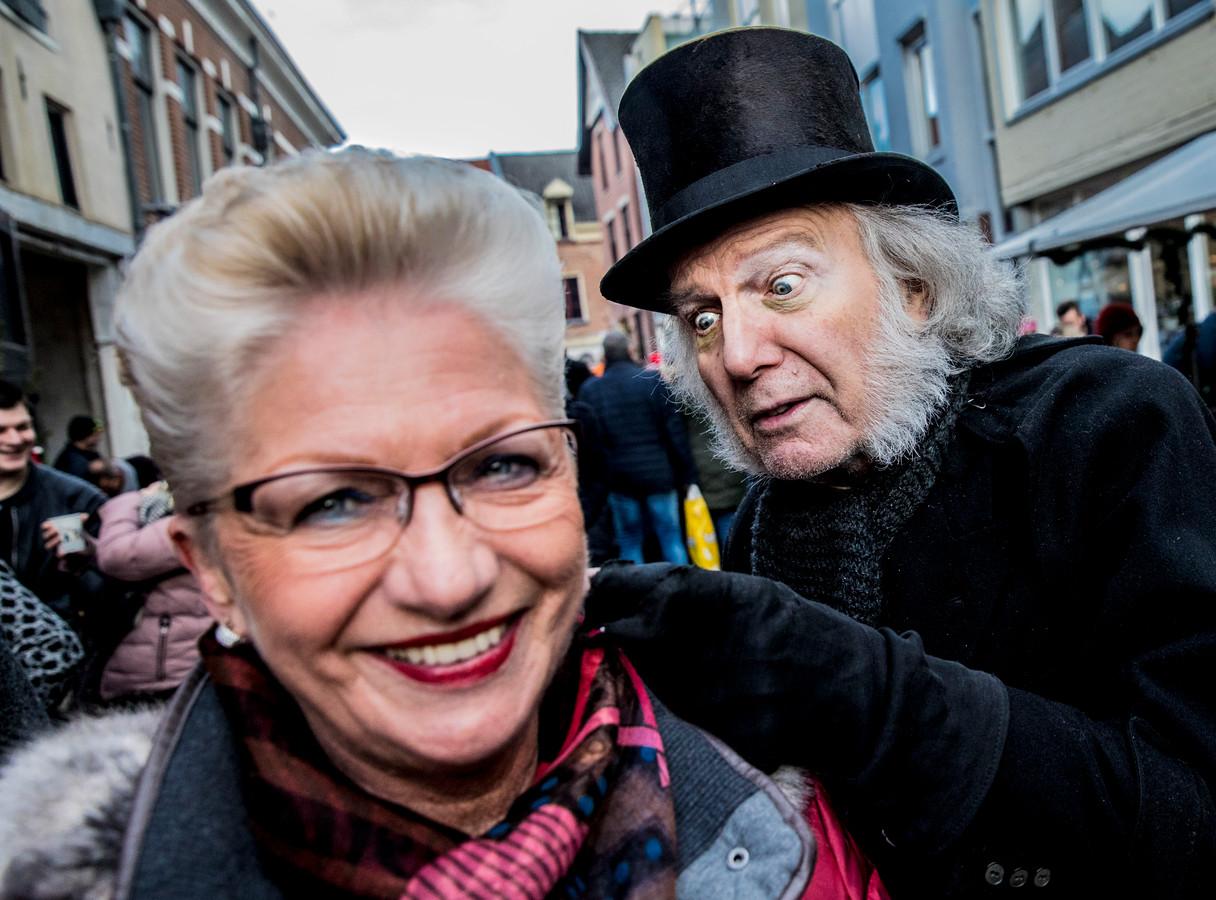 Loek van Voorst als Scrooge in 2017.